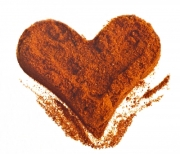 Heart shape made from spices